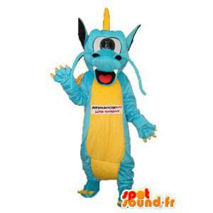 Blue yellow dragon mascot - Costume dragon - MASFR003967 - Dragon mascot