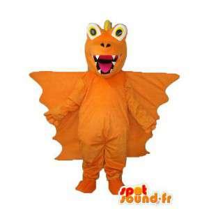 Orange dragon mascot - Plush dragon costume - MASFR003968 - Dragon mascot