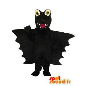 Plain black dragon mascot - Plush dragon costume - MASFR003969 - Dragon mascot