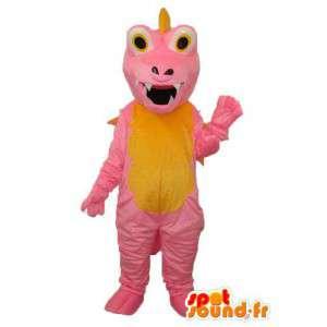 Różowy i żółty smok maskotka - smok kostium misia - MASFR003970 - smok Mascot
