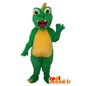Green Dragon maskotti ja keltainen - lohikäärme puku teddy - MASFR003971 - Dragon Mascot