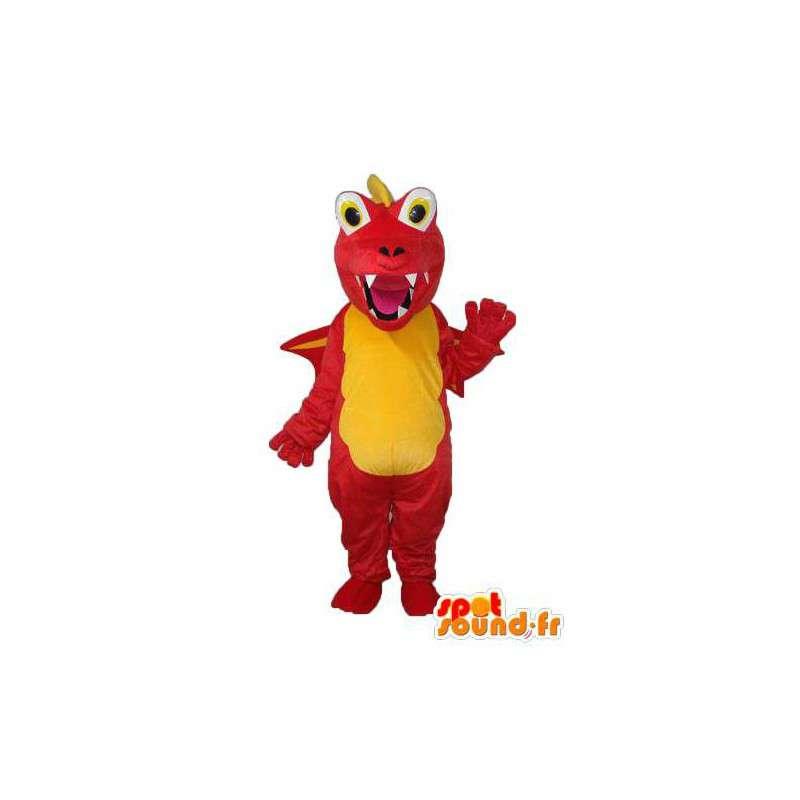Mascot dragon red and yellow - dragon costume - MASFR003975 - Dragon mascot