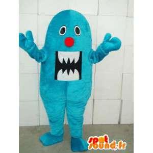 Mascot monstro de pelúcia azul - horror Ideal ou dia das bruxas