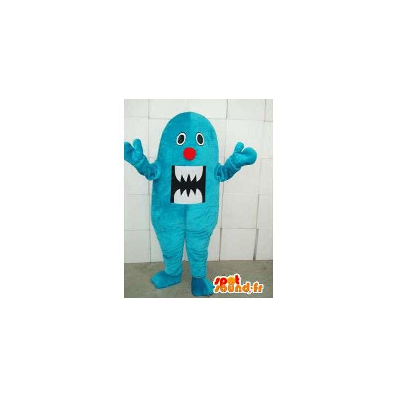 Μασκότ τέρας μπλε βελούδο - Ιδανικό τρόμου ή αποκριές - MASFR00307 - μασκότ τέρατα