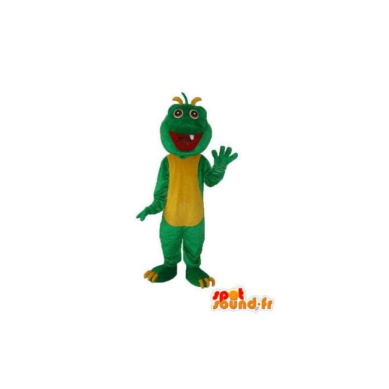 Mascot dragon plush green yellow - dragon suit - MASFR003978 - Dragon mascot
