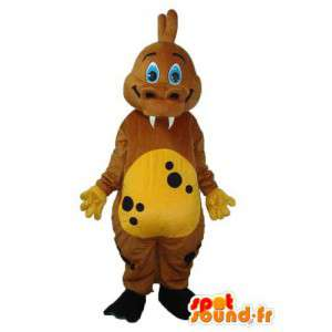 Brown drago mascotte - Peluche drago costume