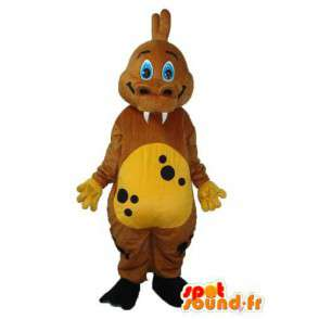 Brown dragon mascot - Plush dragon costume - MASFR003980 - Dragon mascot