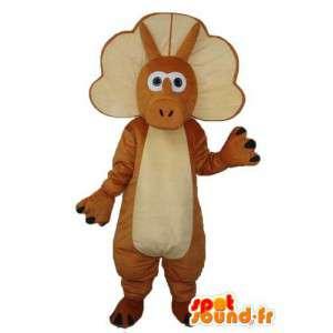 Mascot correa marrón puro y claro - Disfraz Dragón