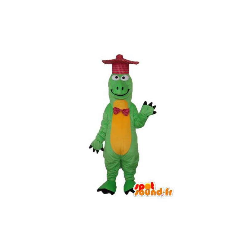 Dragon costume green and yellow - Green Dragon Costume - MASFR003983 - Dragon mascot