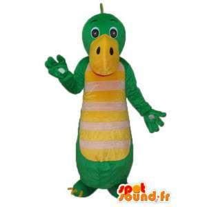 Maskować zielony i żółty smok - zielony smok kostium