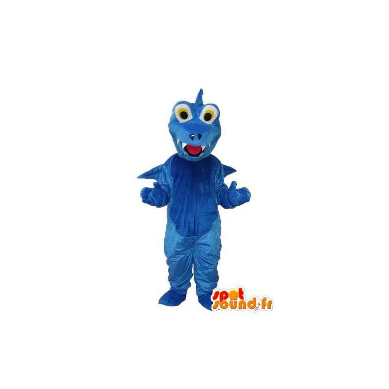 Mascot schlichten blauen Drachen - Drachen Kostüm Plüsch - MASFR003987 - Dragon-Maskottchen