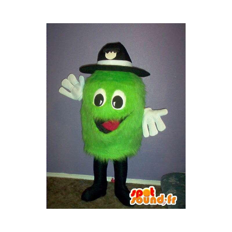 Mascotte petit monstre vert clair à chapeau - costume de peluche - MASFR00308 - Mascottes de monstres