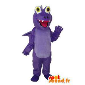 Solid blue dragon mascot - plush dragon costume