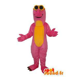 Mascota dragón rosa - dragón amarillo traje de la felpa