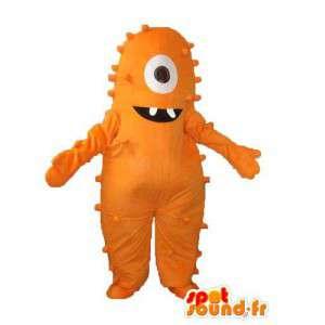 オレンジ色のぬいぐるみモンスターマスコット-モンスターコスチューム-MASFR004003-モンスターマスコット