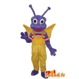 Blå dragonfly maskot - karakter kostume - Spotsound maskot