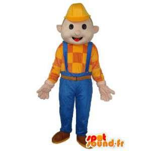 Mascot Man Bau - Mann Kostüm - MASFR004017 - Menschliche Maskottchen