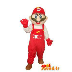 Disfarce Super Mario - Mascot famoso personagem.