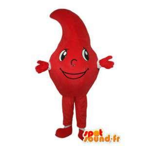 Carácter de la mascota de tomate rojo - traje de tomate - MASFR004029 - Mascota de la fruta