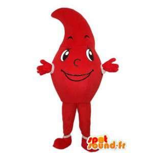 Maskottecken röd tomat - tomatförklädnad - Spotsound maskot
