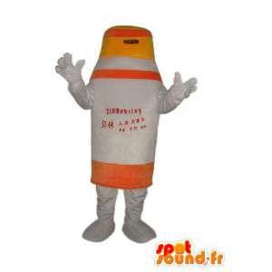 Mascotte en peluche sous la forme d'une borne de signalisation