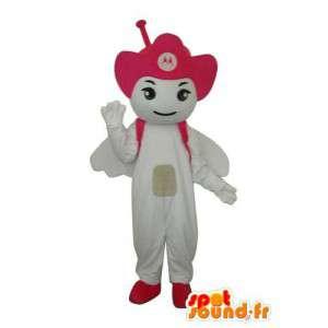 Kostüm weiß Libelle - Libelle Maskottchen