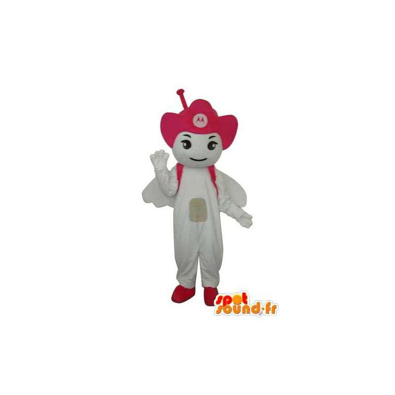 Hvid guldsmede kostume - guldsmede maskotter - Spotsound maskot