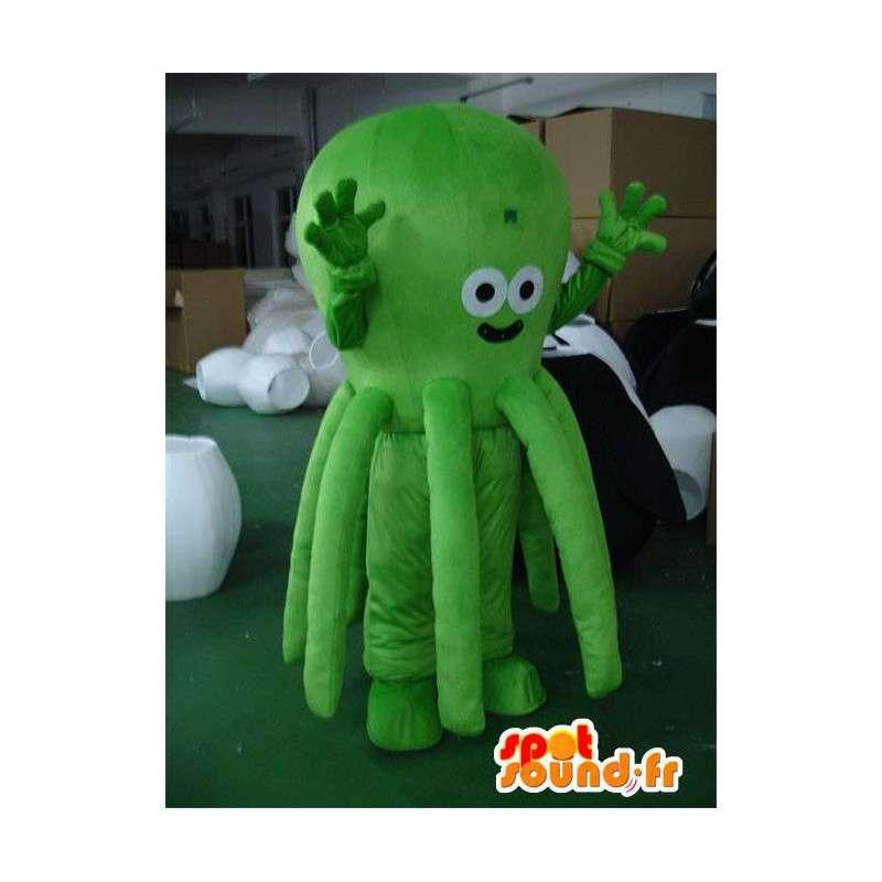 Maskotti vihreä mustekala - Vihreä Octopus - merieläinten puku - MASFR00311 - Maskotteja meressä