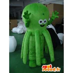 Mascot polvo verde - Green Octopus - traje animal marinho - MASFR00311 - Mascotes do oceano