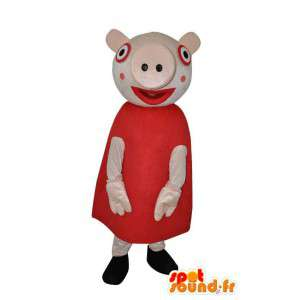 Maskottchen-Buchstaben weibliche Schweine - Disguise Schlampe - MASFR004051 - Maskottchen Schwein