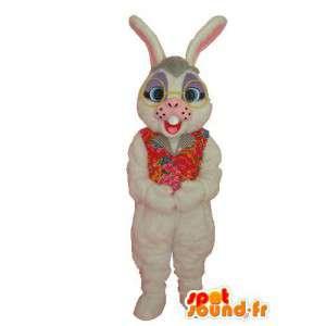 Mascotte de lapin blanc en peluche - déguisement de lapin - MASFR004055 - Mascotte de lapins