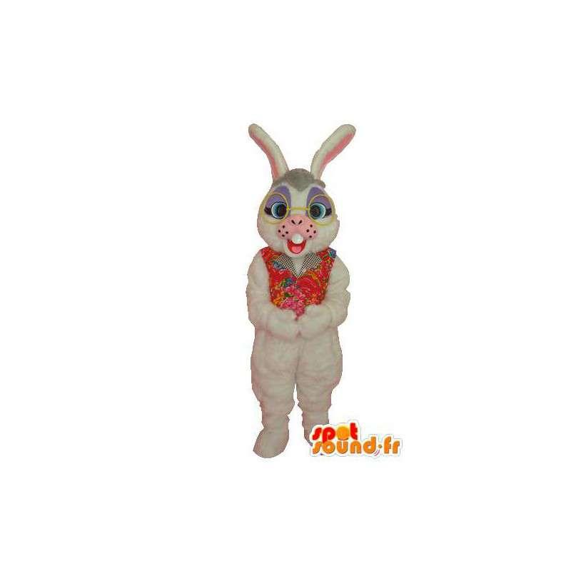 White Rabbit Mascot Pehmo - kani puku - MASFR004055 - maskotti kanit