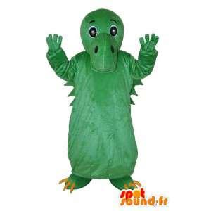 Mascotte de dragon vert uni - déguisement de dragon