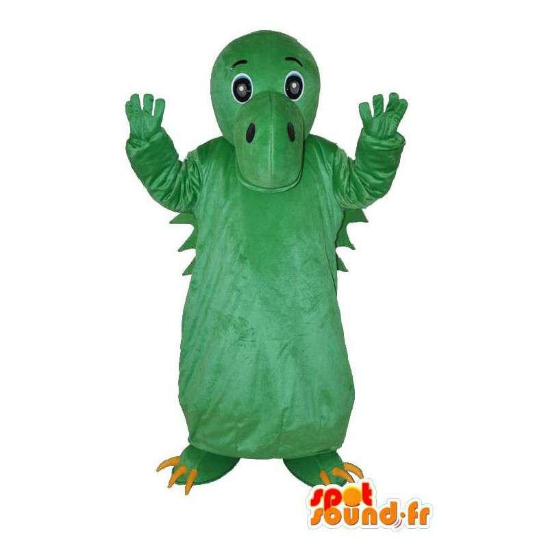 Green dragon mascot Kingdom - dragon costume - MASFR004057 - Dragon mascot