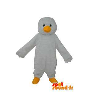 Mascotte de pingouin blanc uni - déguisement de pingouin