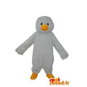 Pinguino mascotte bianca normale - pinguino costume