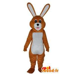 Mascot braunen und weißen Kaninchen - Kaninchen Kostüme - MASFR004060 - Hase Maskottchen