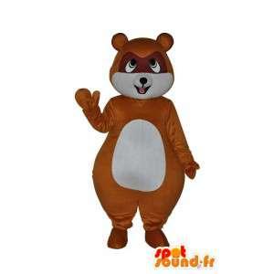 Del ratón de peluche mascota de color marrón y blanco