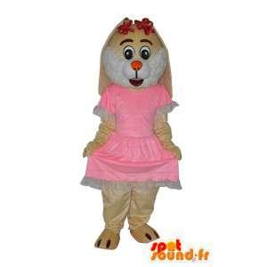 Carattere del mouse mascotte peluche beige