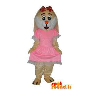 Character mascot plush beige mouse - MASFR004068 - Mouse mascot