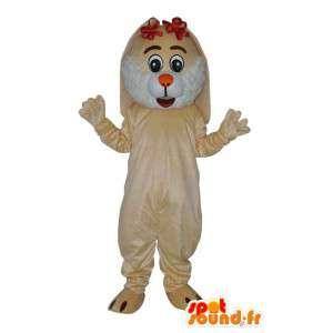 Mascotte de personnage de souris en peluche beige