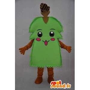 緑の低木キャラクターマスコット-低木変装-MASFR004077-植物マスコット