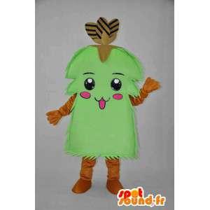 緑の低木キャラクターマスコット-低木変装-MASFR004078-植物マスコット