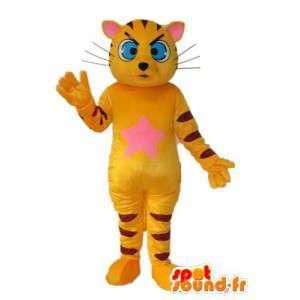 Dräkt som representerar en gul tiger - Dräkt av en tiger -