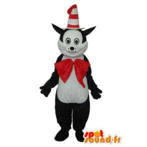 Déguisement de chat à chapeau cône et nœud papillon rouge - MASFR004103 - Mascottes de chat