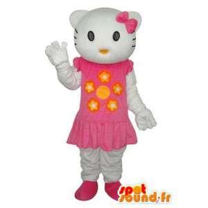 Hola representando disfraz pequeño y vestido