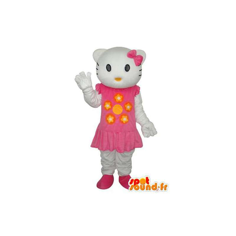 Déguisement représentant Hello petite et en robe - MASFR004113 - Mascottes Hello Kitty