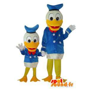 Duo Onkel Dagobert und Donald Duck-Anzug