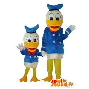 Farbror Joakim och Donald Duck kostymduo - Spotsound maskot