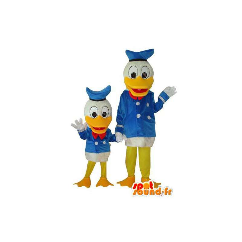 Duo de costume d'Oncle Picsou et Donald Duck - MASFR004116 - Mascottes Donald Duck
